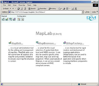 Interface graphique de MapLab